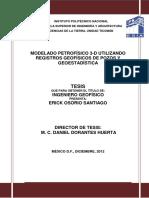 Modelado Petrofísico 3D Utilizando Registros Geofísicos de Pozos y Geoestadística