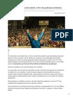 Afolhacarioca.info-Lula Mentiu Pra Você Sobre o Fim Da Pobreza Extrema