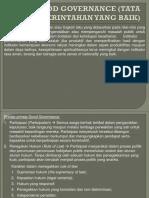 Good Governance Tata Pemerintahan Yang Baik
