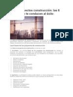 Fases de Proyectos de Construcción