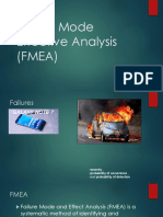 Failure Mode Effective Analysis(FMEA)