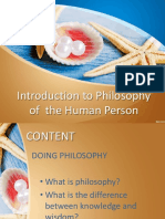 Introduction to the Philosophy of a Human Person