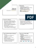 Qualidade de Software e Testes - Folhetos