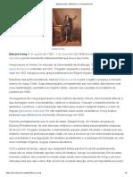 Edward Irving – Wikipédia, A Enciclopédia Livre
