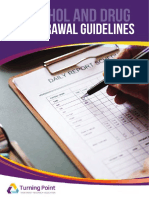 drug alcohol withdrawal guidelines