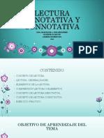 Lectura Denotativa y Connotativa