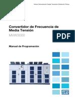 WEG MVW3000 Convertidor de Frecuencia de Media Tension 10005561780 Manual de Programacion Es