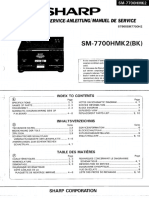 Hfe Sharp Sm-7700h Mk2 Service en de Fr