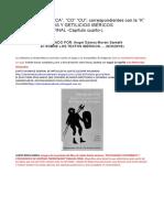 Letra c. Sonidos CA, Co, Cu; k Ibérica. Topónimos y Getilicios Ibéricos. Nomenclator Final Capítulo Cuarto