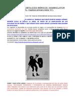 """Topónimos y Getilicios Ibéricos. Nomenclator Final Capítulo Primero (Letra """"a"""")."""