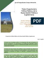 El aporte de la Política Pública y de la Nueva Gestión Pública a la gobernanza.pptx