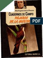 Cuadernos de Campo 27 F R de La Fuente Pájaros de La Marisma-Editorial Marín S.a. (1978)
