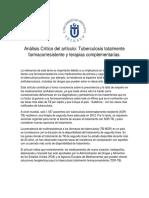 Análisis Crítico Del Artículo Tuberculosis