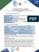 Guía de Actividades y Rúbrica de Evaluación - Tarea 3 - Espacios Vectoriales