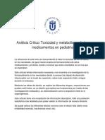 Analisis Critico Drogas y Metabolismo en El Neonato