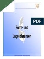 Folie FH - Form- Und Lage-Toleranzen