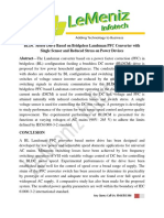 BLDC Motor Drive Based on Bridgeless Landsman PFC Converter With Single Sensor and Reduced Stress on Power Devices