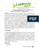 Modelling, Design, Control, And Implementation of a Modified Z-source Integrated PV Grid EV DC Charger Inverter