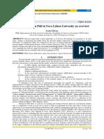 Science Education PhD in Nova Lisbon University an overview