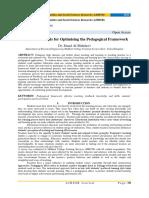 Essential Elements for Optimising the Pedagogical Framework