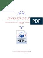 Sintaxis de HTML
