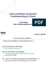 Oracle Latch and Mutex Contention Troubleshooting