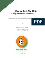 LPile 2018 User Manual