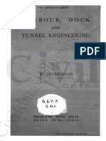 Harbour Dock and Tunnel Engineering by R Srinivasa