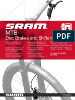 SRAM 95-5018-019-000 Rev e Mtb Disc Brakes and Shifters