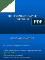 Procurement Checkl