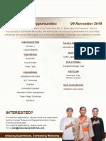 Career Poster - 08 Nov 2018