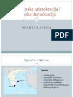 Spartanska Aristokracija i Atenska Demokracija