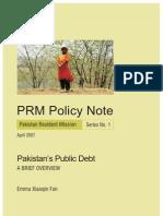 Pakistan Public Debt