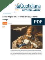 Leone Magno e la Lotta Contro Le Eresie