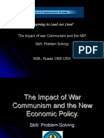 Lesson 15 - The Impact of War Communism