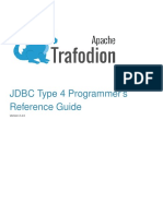 Trafodion JDBCT4 Reference Guide