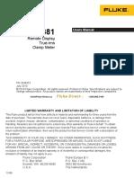 Fluke 381 Clamp Meter Manual