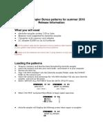 Manual Electribe Sampler Bonus Patterns