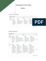 Rubrics Fundamentals Web
