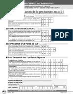 Exemple 1 Sujet Complet Delf b1 Tous Publics