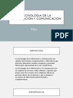 Tecnologia de La Información y Comunicación