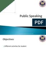 Public Speaking - Activities