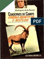 Cuadernos de Campo 07 F R de La Fuente Cabra Montesa y Muflon Marin 1978