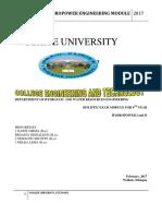 Hydropower Module for Holistic Exam