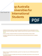 Learn about the top Australia Universities for International Students