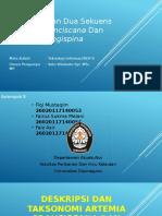 Pebandingan dua sekuens artemia franciscana dan daphnia longispina