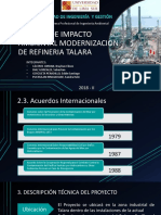 Estudio de Impacto Ambiental Modernizacion de Refineria Talara