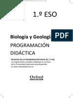 Biologia y Geologia Secundaria Programacion Didactica