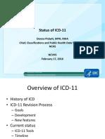 Pickett Status of ICD 11 v2 Feb 17 2016 Revised