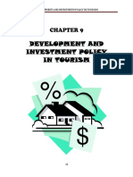 9 Development and Investment Policy in Tourism